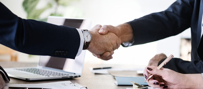 Business Owners Shaking Hands on a Deal
