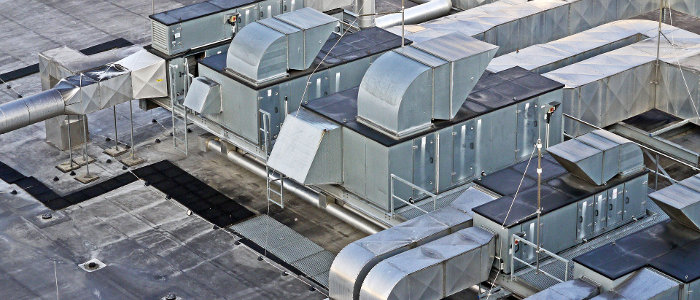 HVAC Systems on a Large Rooftop